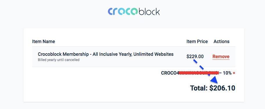crocoblock discount code