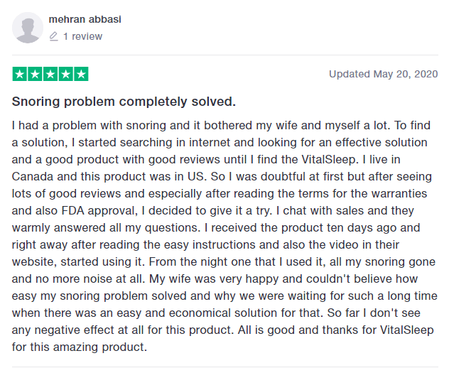 Reviews of VitalSleep